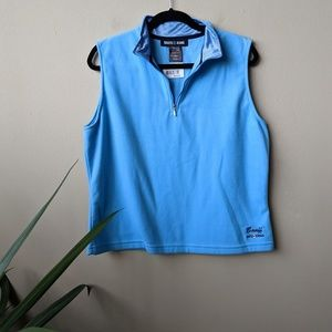 Roots Banff Canada Micro 1/2 Zip Ice Blue Vest XL
